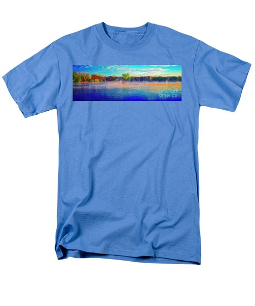 Fishing On Crystal Lake, Il., Sport, Fall Men's T-Shirt  (Regular Fit) by Tom Jelen