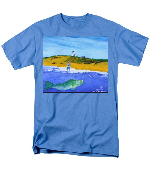 Fishing Under Highland Light Men's T-Shirt  (Regular Fit) by Bill Hubbard