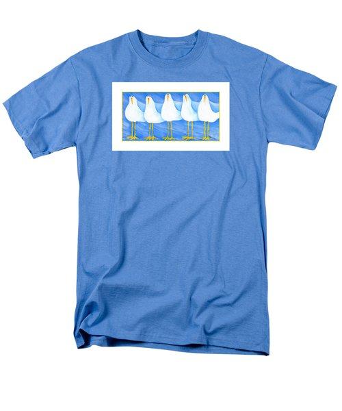 Five Seagulls Men's T-Shirt  (Regular Fit) by Pat Olson