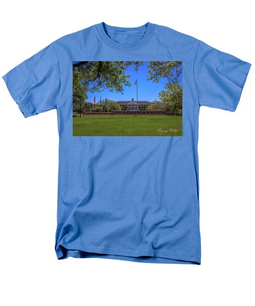 Men's T-Shirt  (Regular Fit) featuring the photograph Flag At Entrance by Gregory Daley  PPSA