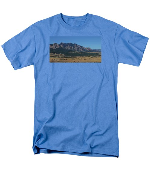 Flatirons Of Boulder Men's T-Shirt  (Regular Fit) by Christopher Kirby
