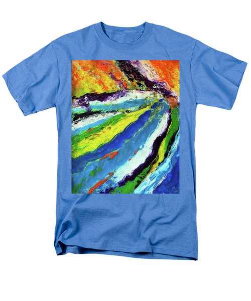 Men's T-Shirt  (Regular Fit) featuring the painting Flowage by Everette McMahan jr