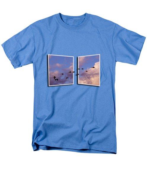 Flying Across Men's T-Shirt  (Regular Fit) by Roger Wedegis