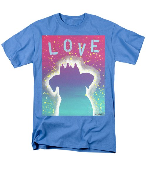Men's T-Shirt  (Regular Fit) featuring the painting For The Love Of Pups by Melissa Goodrich