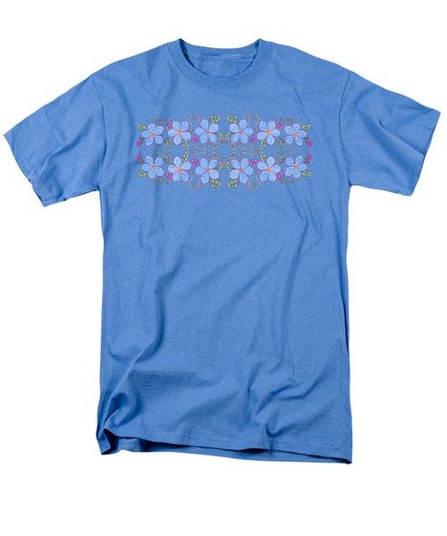 Forget Me Not Garland Men's T-Shirt  (Regular Fit) by Teresa Ascone
