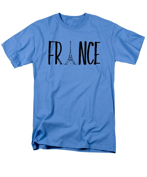 France Typography Panoramic Men's T-Shirt  (Regular Fit)