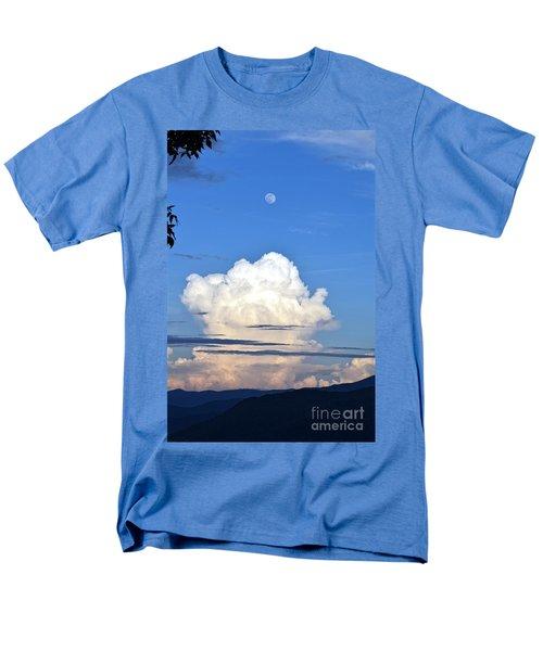 Full Moon Rising Over Blue Ridge Men's T-Shirt  (Regular Fit) by Gary Smith