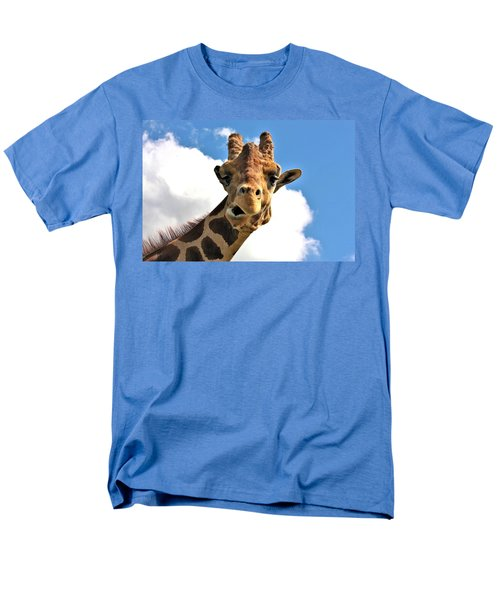 Funny Face Giraffe Men's T-Shirt  (Regular Fit) by Sheila Brown