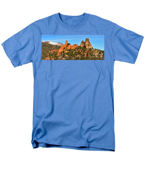 Men's T-Shirt  (Regular Fit) featuring the photograph Garden Of The Gods High Point Panorama by Adam Jewell