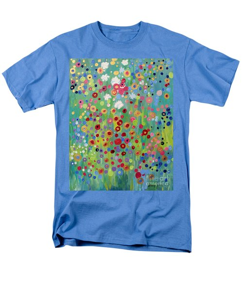 Men's T-Shirt  (Regular Fit) featuring the painting Garden's Dance by Stacey Zimmerman