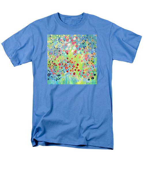 Men's T-Shirt  (Regular Fit) featuring the painting Garden's Delight by Stacey Zimmerman