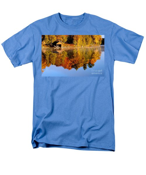 Gatineau Park Taylor Lake Men's T-Shirt  (Regular Fit) by Rod Jellison