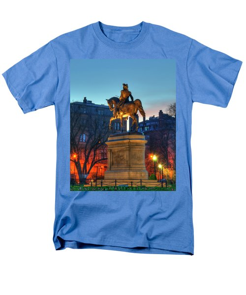 Men's T-Shirt  (Regular Fit) featuring the photograph George Washington Statue In Boston Public Garden by Joann Vitali