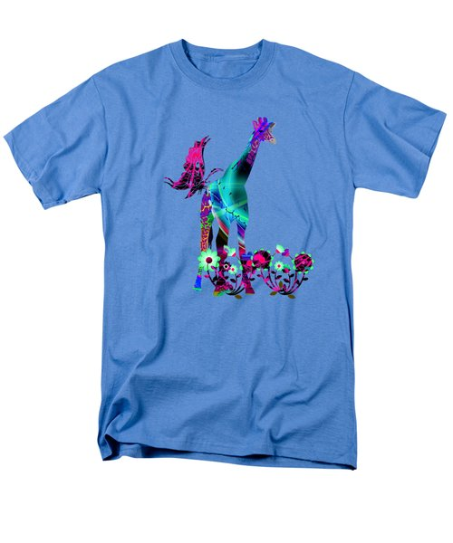 Giraffe And Flowers2 Men's T-Shirt  (Regular Fit) by EricaMaxine  Price