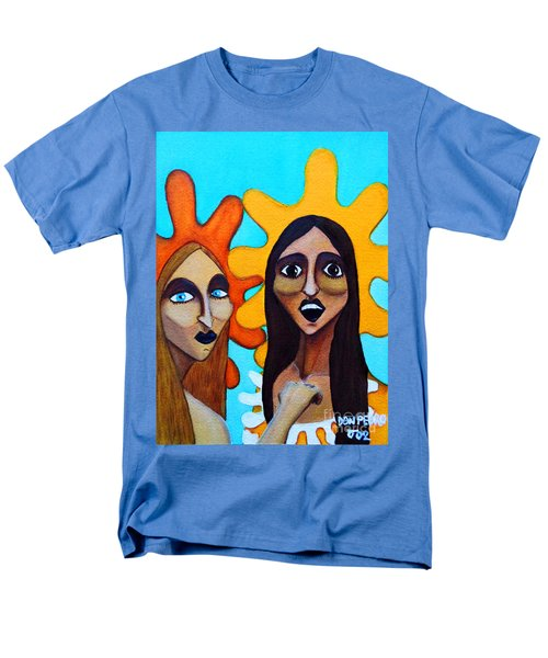 Men's T-Shirt  (Regular Fit) featuring the painting Girls Caught In Fraganti by Don Pedro De Gracia