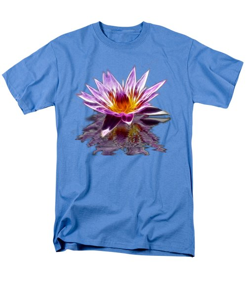 Glowing Lilly Flower Men's T-Shirt  (Regular Fit)