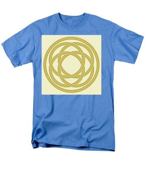 Men's T-Shirt  (Regular Fit) featuring the photograph Gold Celtic Knot by Jane McIlroy