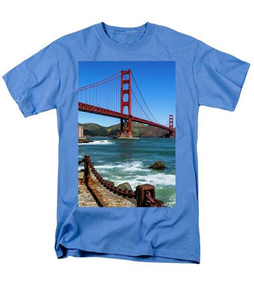 Golden Gate Bridge From Fort Point Men's T-Shirt  (Regular Fit) by Teri Virbickis