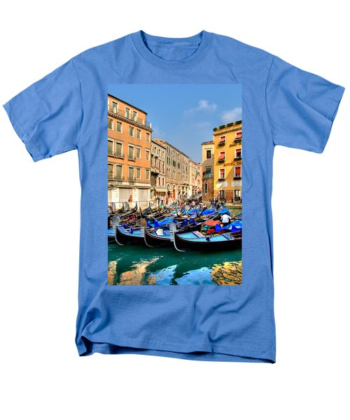 Gondolas In The Square Men's T-Shirt  (Regular Fit) by Peter Tellone
