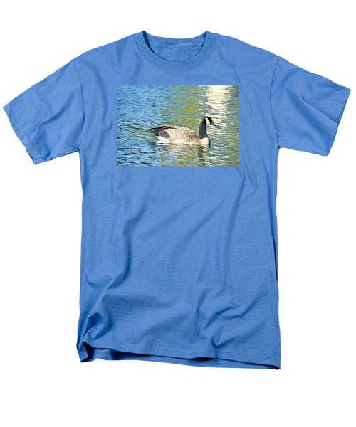 Men's T-Shirt  (Regular Fit) featuring the photograph Goose And Sun Reflections by David Lawson