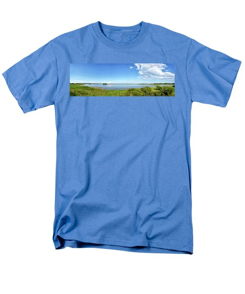 Men's T-Shirt  (Regular Fit) featuring the photograph Gordons Pond Panorama - Cape Henlopen State Park - Delaware by Brendan Reals