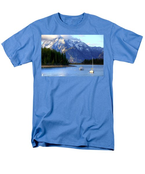 Grand Tetons Men's T-Shirt  (Regular Fit) by Charlotte Schafer