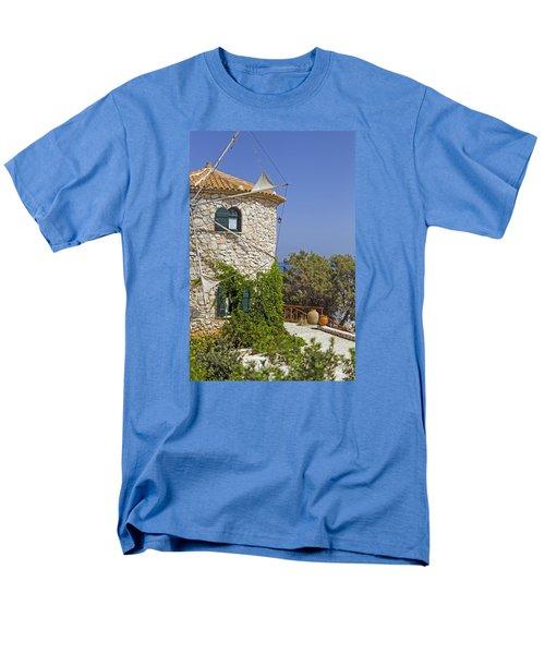 Greek Windmill Men's T-Shirt  (Regular Fit) by Rainer Kersten