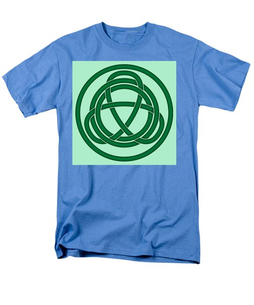 Men's T-Shirt  (Regular Fit) featuring the digital art Green Celtic Knot by Jane McIlroy