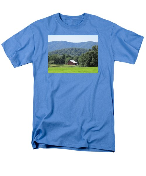 Mountain Barn Retreat Men's T-Shirt  (Regular Fit) by Charlotte Gray
