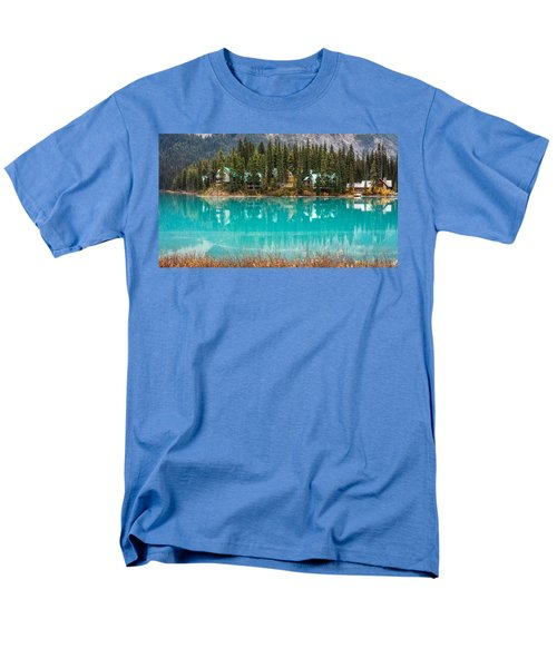 Men's T-Shirt  (Regular Fit) featuring the photograph Emerald Lake by Pierre Leclerc Photography