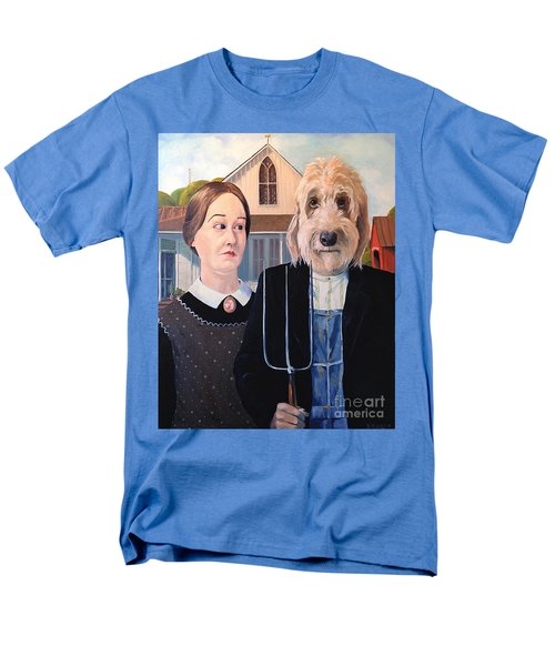 Men's T-Shirt  (Regular Fit) featuring the painting Gunther Goes Goth by Diane Daigle