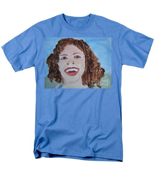 Men's T-Shirt  (Regular Fit) featuring the painting Happy by Sandy McIntire