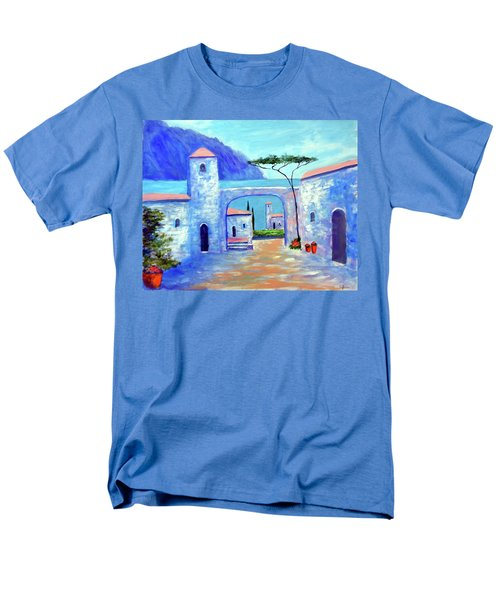 Men's T-Shirt  (Regular Fit) featuring the painting Harmony Of Como by Larry Cirigliano