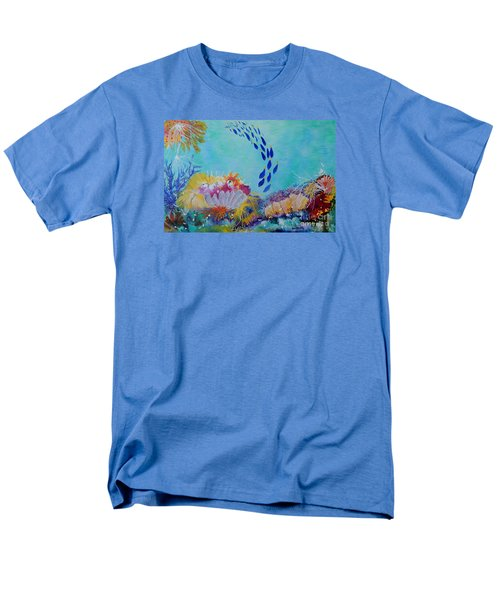 Men's T-Shirt  (Regular Fit) featuring the painting Heading For The Coral by Lyn Olsen