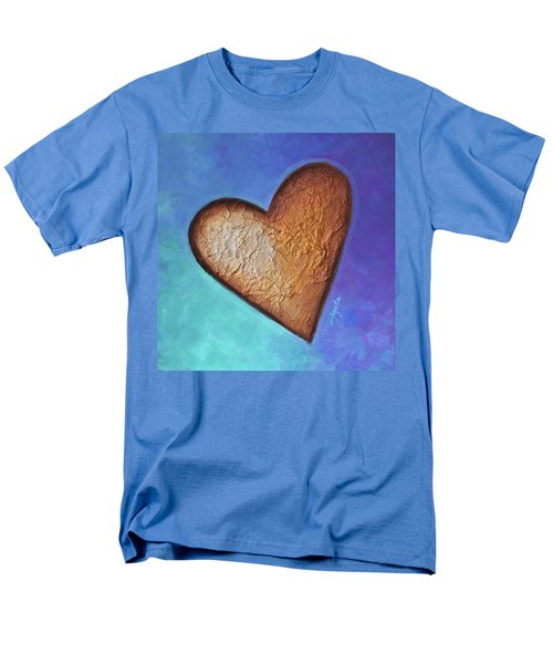 Men's T-Shirt  (Regular Fit) featuring the painting Heart by Agata Lindquist