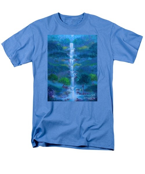 Men's T-Shirt  (Regular Fit) featuring the painting Heavenly Falls by Stacey Zimmerman
