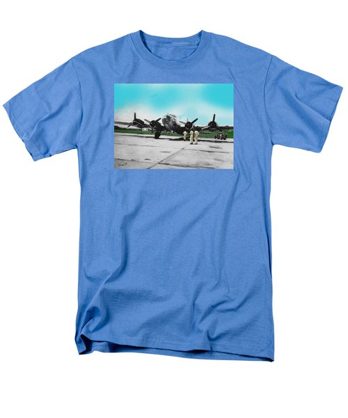 Men's T-Shirt  (Regular Fit) featuring the digital art Hickam Fort by Walter Chamberlain