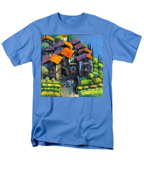 Hilltop Willage Men's T-Shirt  (Regular Fit) by Mikhail Zarovny