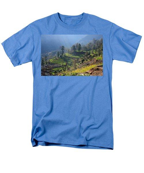 Himalayan Stepped Fields - Nepal Men's T-Shirt  (Regular Fit)