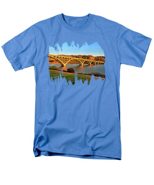 Historic Patterson Bridge Gold Beach Men's T-Shirt  (Regular Fit) by Thom Zehrfeld