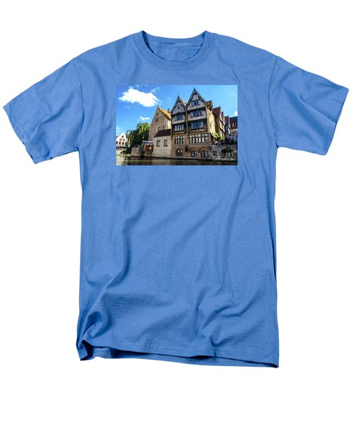 Men's T-Shirt  (Regular Fit) featuring the photograph Homes Of Bruges by Pravine Chester