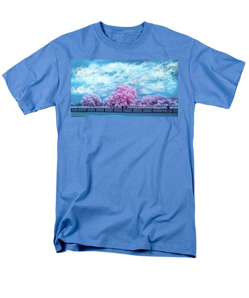 Men's T-Shirt  (Regular Fit) featuring the photograph Horse Country In Pink by Louis Ferreira