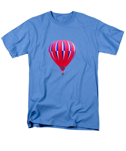 Hot Air Balloon - Red White Blue - Transparent Men's T-Shirt  (Regular Fit) by Nikolyn McDonald