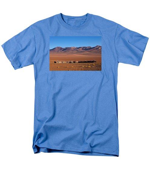 Hotel Tayka Del Desierto In Siloli Desert Men's T-Shirt  (Regular Fit) by Aivar Mikko