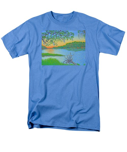Men's T-Shirt  (Regular Fit) featuring the painting Hunting Island Lagoon 2 by Dwain Ray