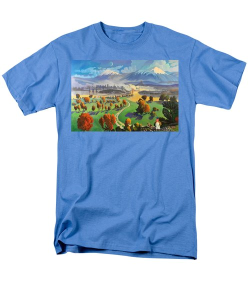 Men's T-Shirt  (Regular Fit) featuring the painting I Dreamed America by Art James West