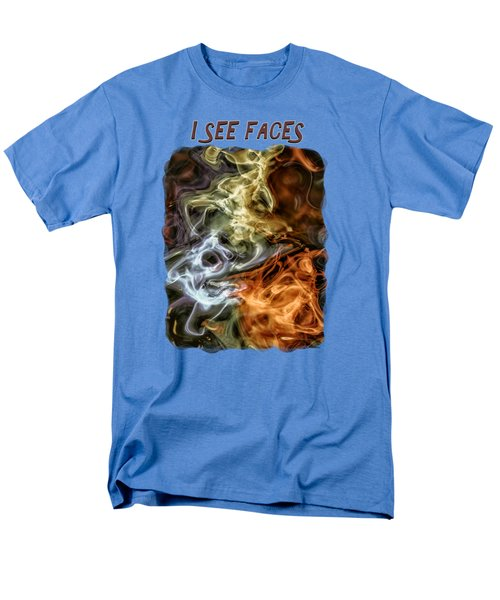 I See Faces Men's T-Shirt  (Regular Fit) by John M Bailey