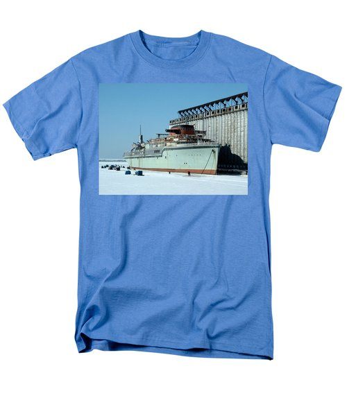 Ice Fishing On Lake Erie Men's T-Shirt  (Regular Fit) by Ely Arsha