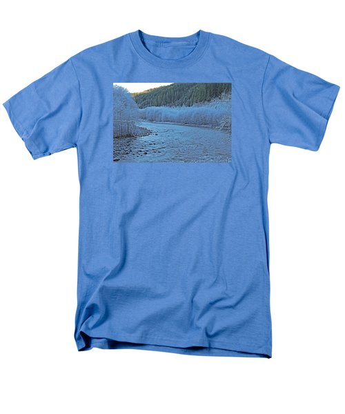 Men's T-Shirt  (Regular Fit) featuring the photograph Icy River by Jack Moskovita
