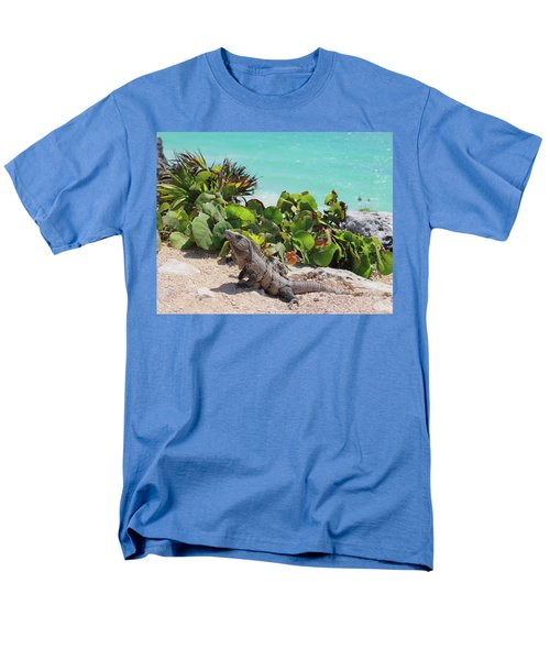 Men's T-Shirt  (Regular Fit) featuring the photograph Iguana At Tulum by Roupen  Baker